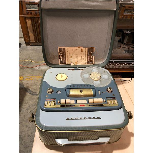 Vintage Grundig recorder reel to reel tape player/ recorder