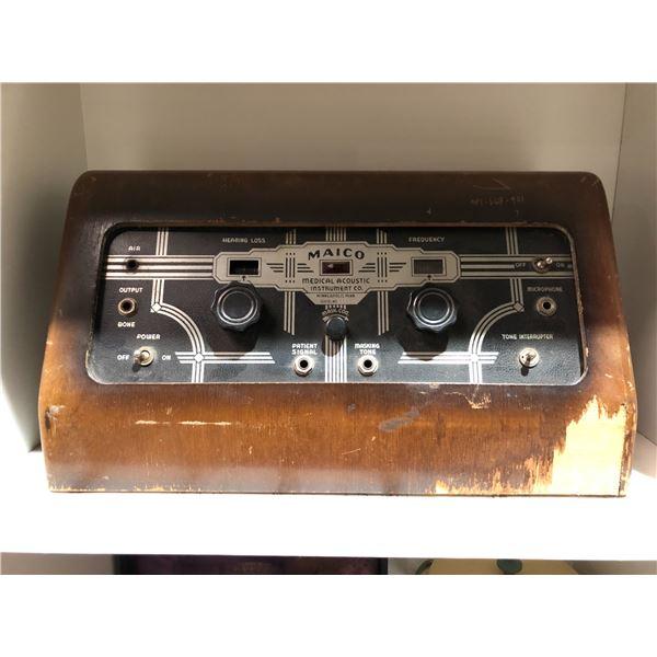 Vintage Maico medical acoustic instrument company medical machine