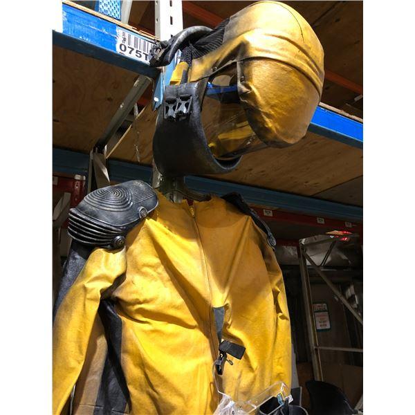 TV series production screen worn 10 pc. bio hazard hazmat suit from the popular sci-fi show