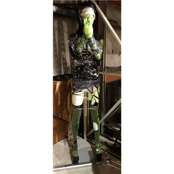 Life size gothic fantasy dressed clothing display mannequin - comes complete w/ assorted accent jewe