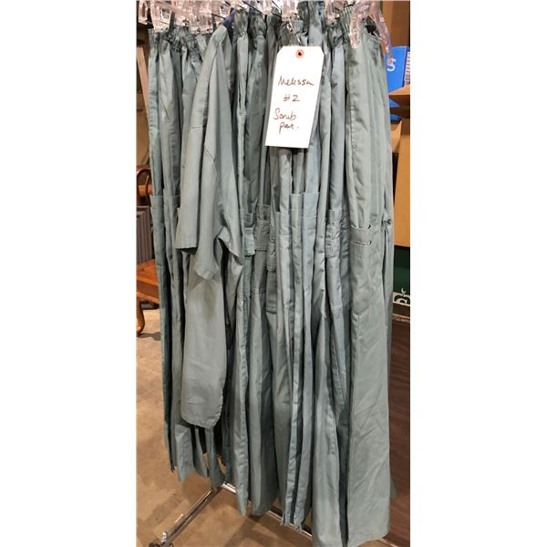 Group of approx. 20 film production wardrobe operating room scrubs bottoms