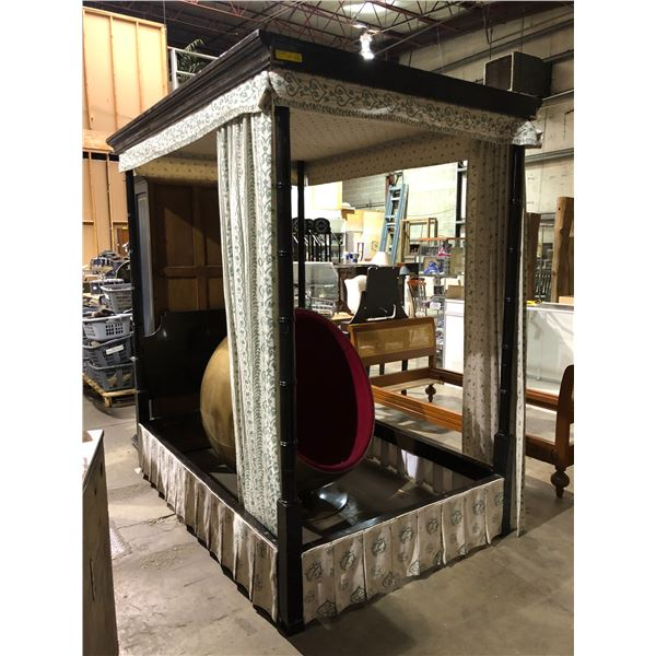 Antique double sized canopy bed