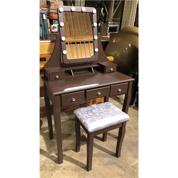 New ladies vanity dresser w/ matching stool