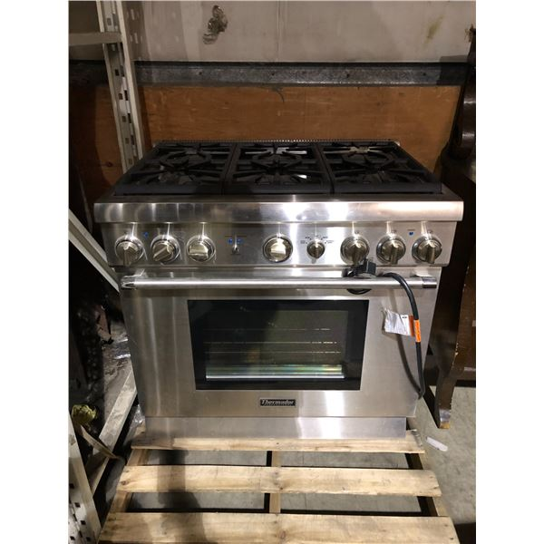 Thermador professional stainless steel 6 burner gas stove