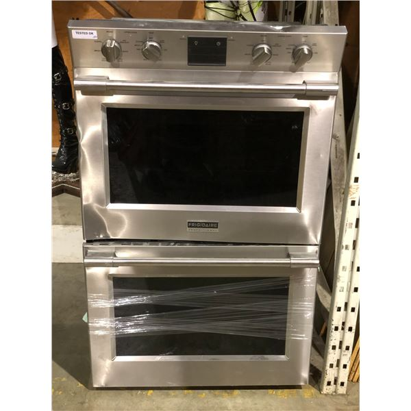 Frigidaire professional built in electric double oven (tested - working condition freight damaged de