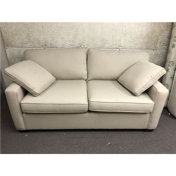 Contemporary light beige sofa bed