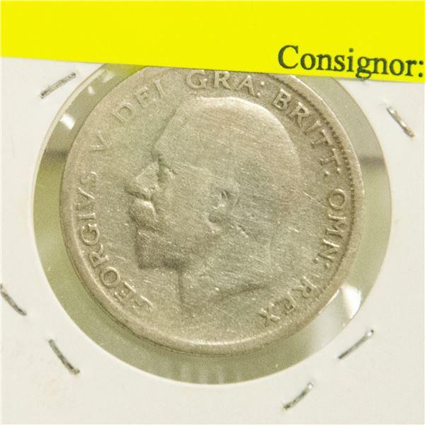 1929 SILVER HALF CROWN COIN