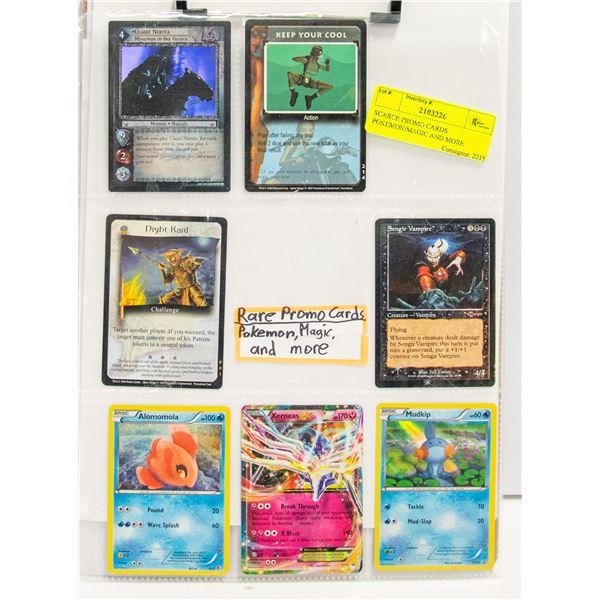 SCARCE PROMO CARDS POKEMON/MAGIC AND MORE