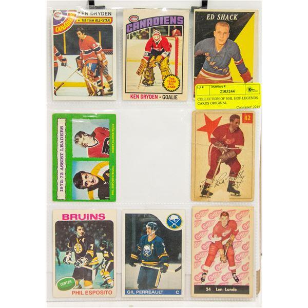 COLLECTION OF NHL HOF LEGENDS CARDS ORIGINAL