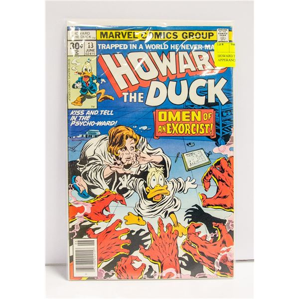 HOWARD THE DUCK # 13 FIRST APPERANCE OF KISS