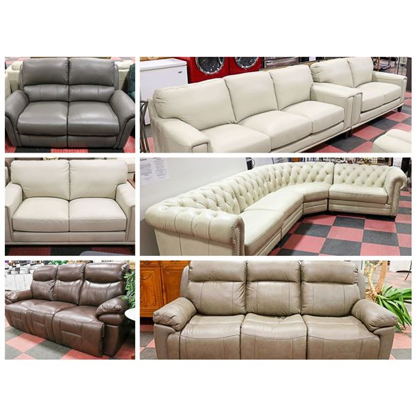FEATURED LEATHER SOFAS AND SETS