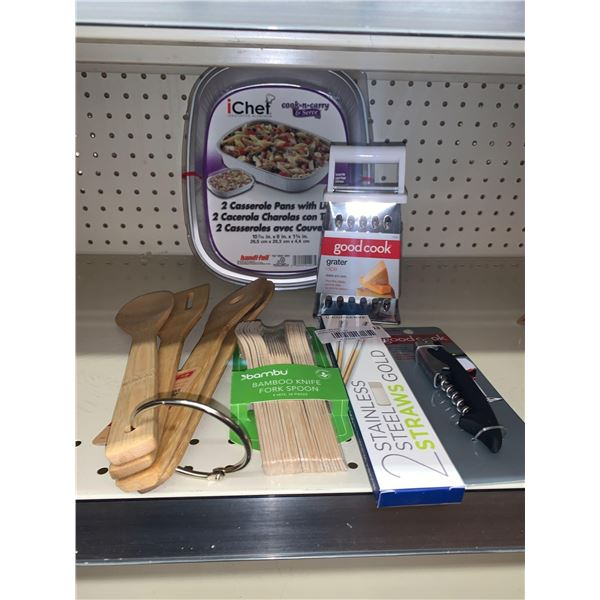 Lot of assorted new kitchen wares 6 items