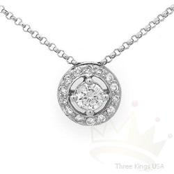 Fine Jewelry .42 ctw Fine Diamond Necklace 14K W Gold