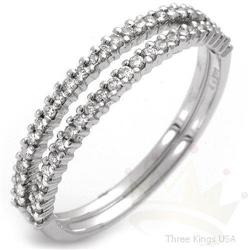 Set of 2 Anniversary .16ctw Diamond Ring 14K White Gold