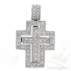 Jewelry .49 ctw Diamond Pendant 14K White Gold