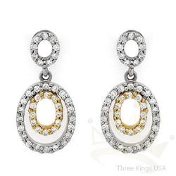 Jewelry .30 ctw Diamond Earrings 14K 2tone Gold