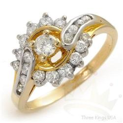 Fine Jewelry 1.25 ctw Diamond Ring 10K 2tone Gold
