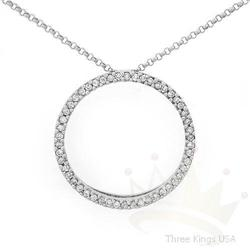 Circle of life .26 ctw Diamond Necklace 14KW Gold