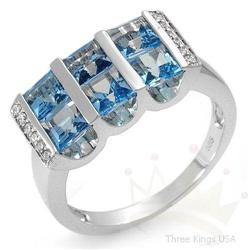 Ring 2.66 ctw Topaz & Diamond 14K White Gold