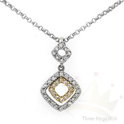 Necklace .20 ctw Diamond Two-tone Necklace 14K Gold