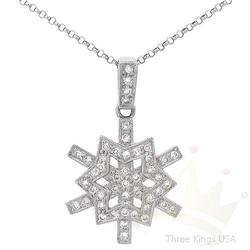 Jewelry .39 ctw Diamond Pendant 14K White Gold