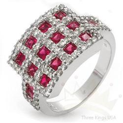 Ring 2.25 ctw Ruby & Diamond 14K White Gold