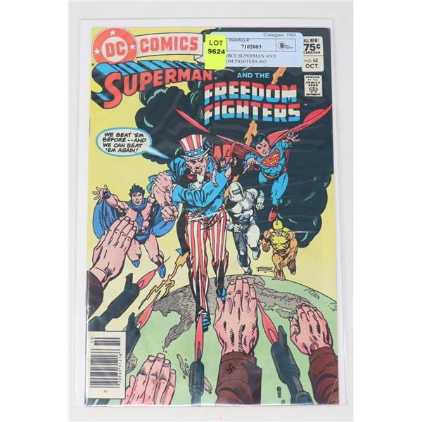 DC COMICS SUPERMAN AND FREEDOM FIGHTERS #62