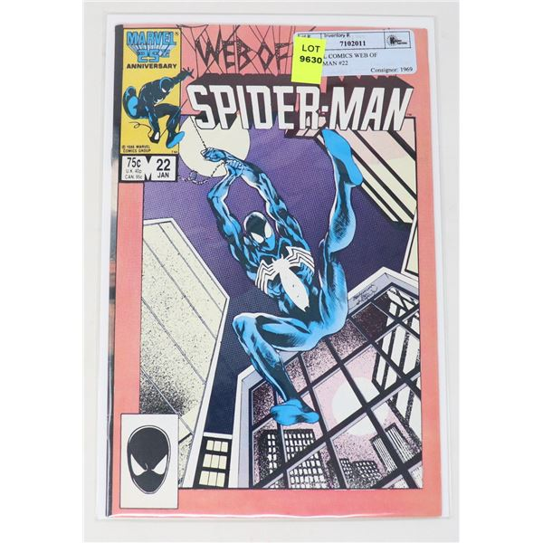 MARVEL COMICS WEB OF SPIDERMAN #22