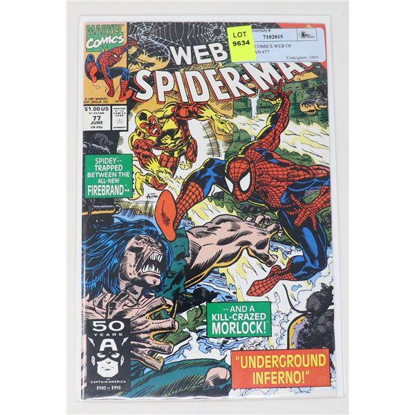 MARVEL COMICS WEB OF SPIDERMAN #77