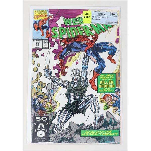 MARVEL COMICS WEB OF SPIDERMAN #79