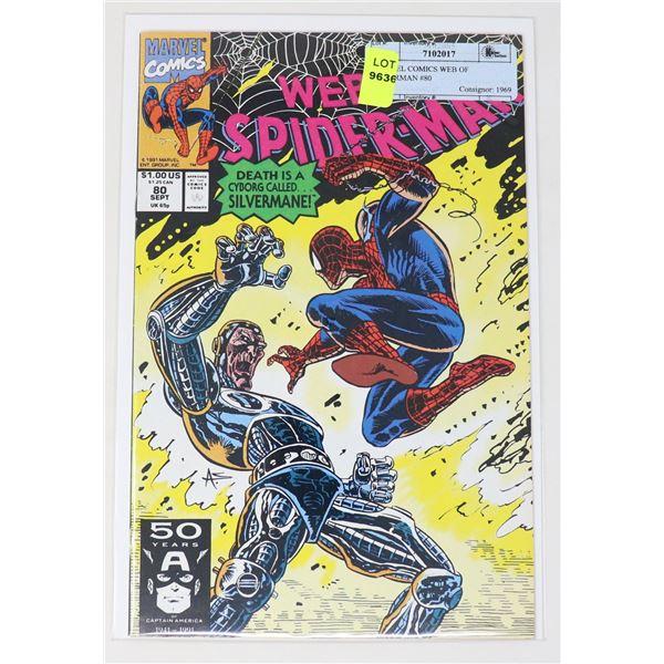 MARVEL COMICS WEB OF SPIDERMAN #80