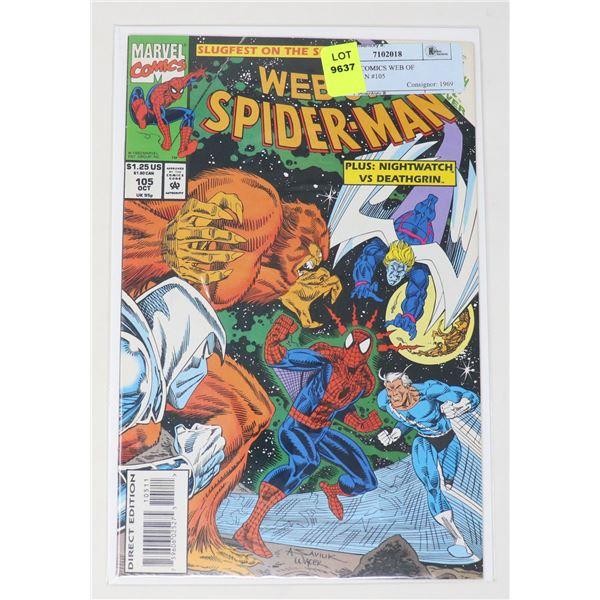 MARVEL COMICS WEB OF SPIDERMAN #105