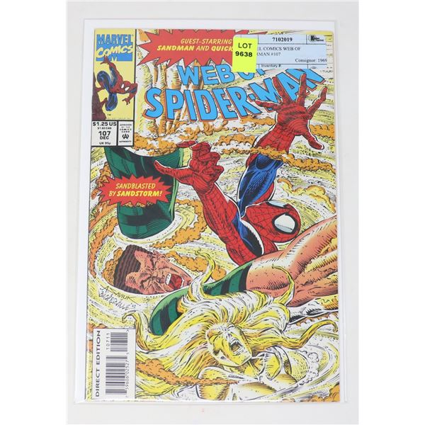 MARVEL COMICS WEB OF SPIDERMAN #107