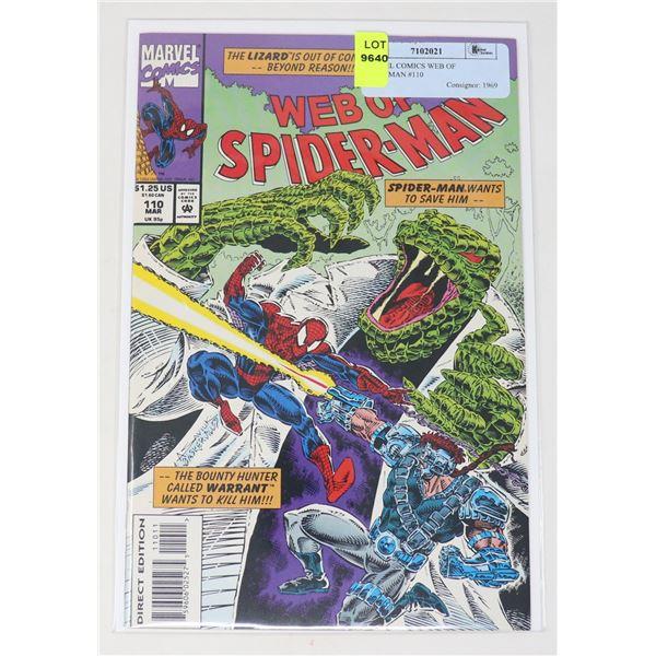 MARVEL COMICS WEB OF SPIDERMAN #110