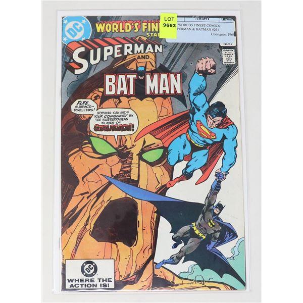 DC WORLDS FINEST COMICS SUPERMAN & BATMAN #291