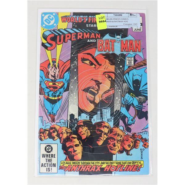 DC WORLDS FINEST COMICS SUPERMAN & BATMAN #292