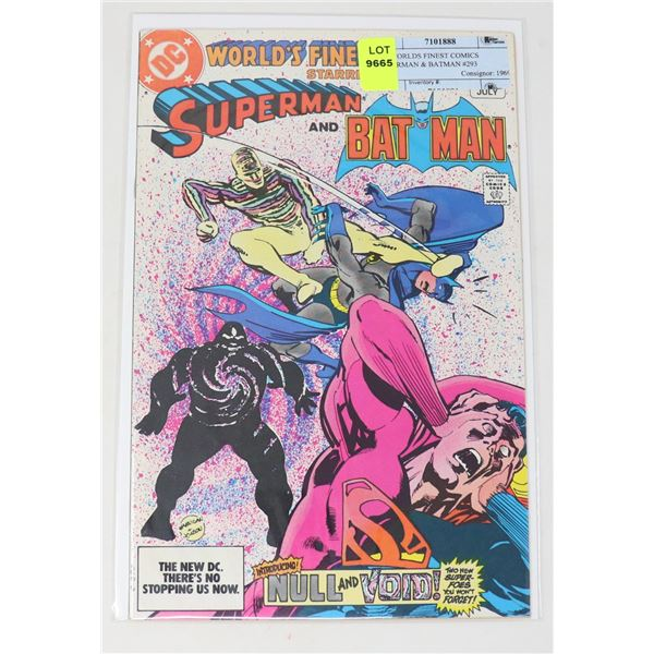 DC WORLDS FINEST COMICS SUPERMAN & BATMAN #293