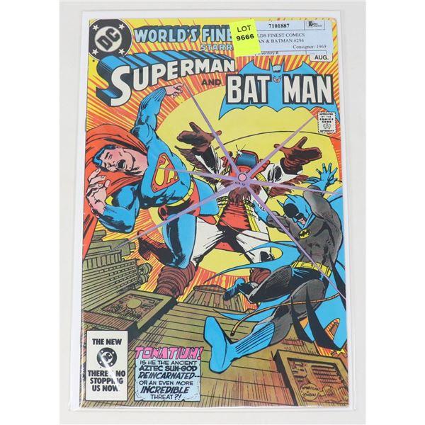 DC WORLDS FINEST COMICS SUPERMAN & BATMAN #294
