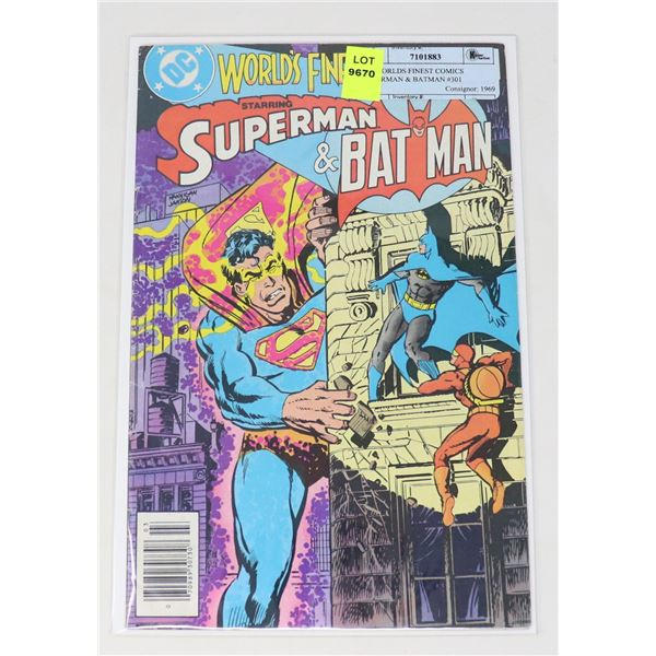 DC WORLDS FINEST COMICS SUPERMAN & BATMAN #301