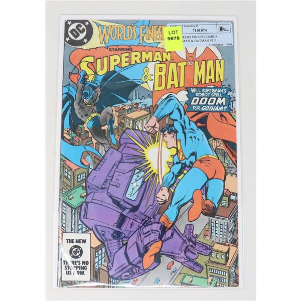 DC WORLDS FINEST COMICS SUPERMAN & BATMAN #311