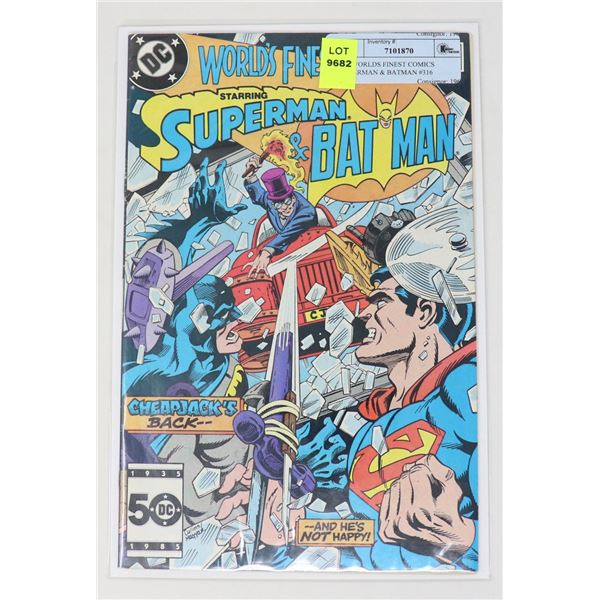 DC WORLDS FINEST COMICS SUPERMAN & BATMAN #316
