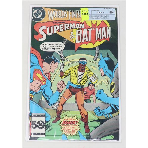 DC WORLDS FINEST COMICS SUPERMAN & BATMAN #318