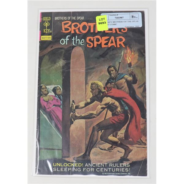 GOLD KEY BROTHER5 OF THE SPEAR 25 CENT COMIC