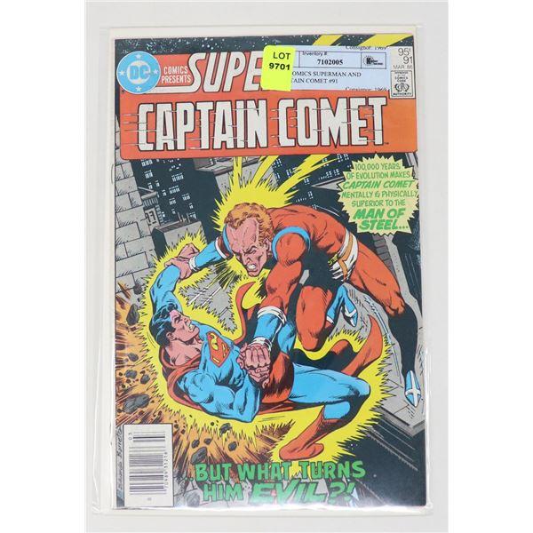 DC COMICS SUPERMAN AND CAPTAIN COMET #91