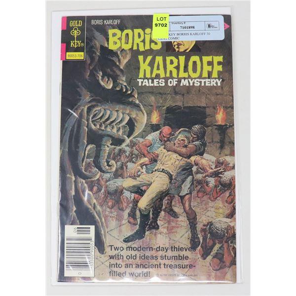 GOLD KEY BORRIS KARLOFF 30 CENT COMIC