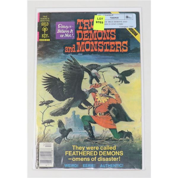 GOLD KEY TRUE DEMONS AND MONSTERS 35 CENT COMIC