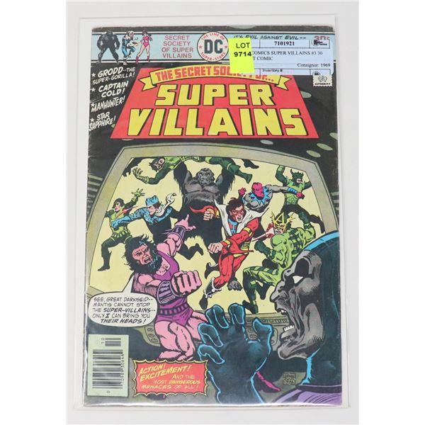 DC COMICS SUPER VILLAINS #3 30 CENT COMIC