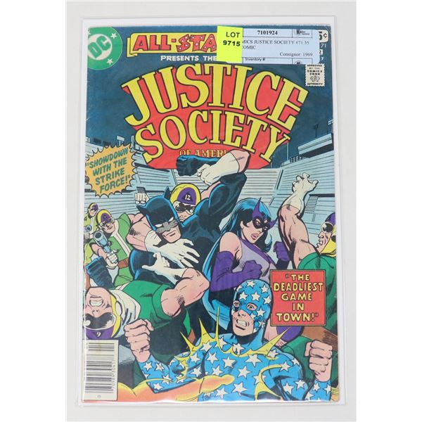DC COMICS JUSTICE SOCIETY #71 35 CENT COMIC
