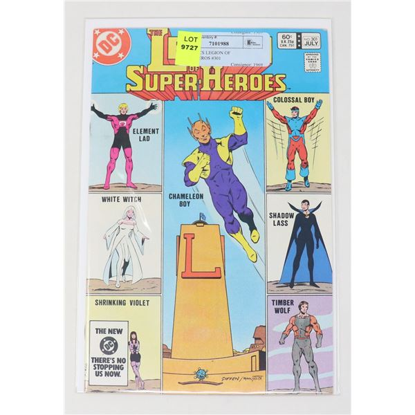 DC COMICS LEGION OF SUPER-HEROS #301