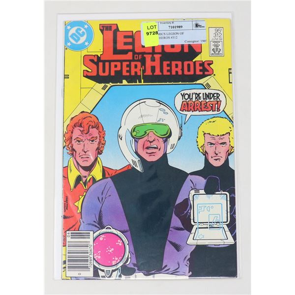 DC COMICS LEGION OF SUPER-HEROS #312